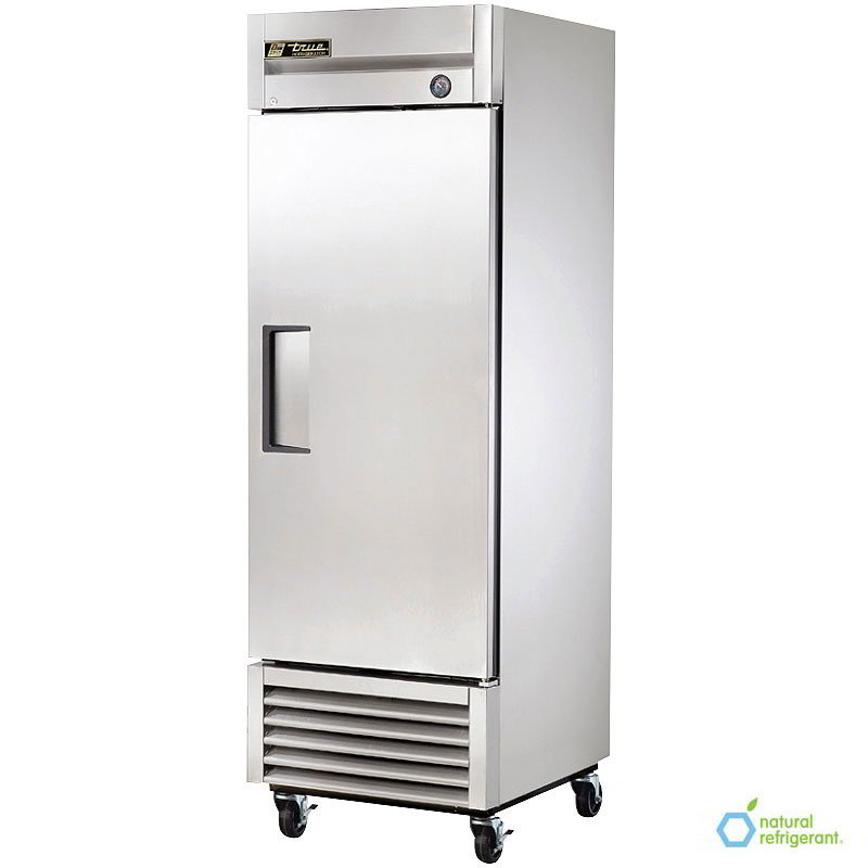 "True T-23 LH 27"" Single Section Reach-In Refrigerator, (1) Solid Door, 115v"