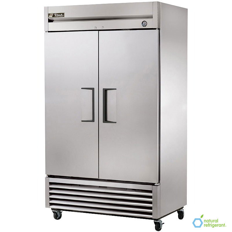 "True T-43F 47"" Two Section Reach-In Freezer, (2) Solid Doors, 115v"
