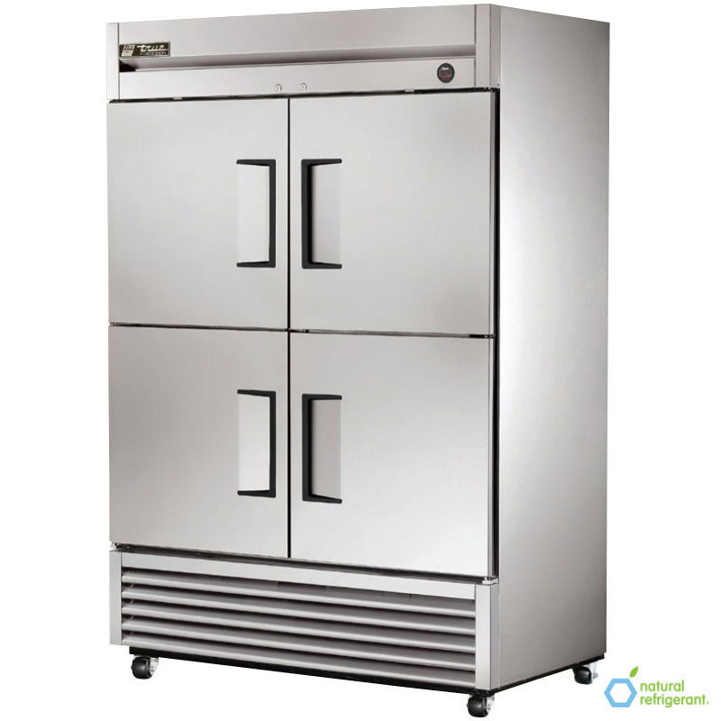 "True T-49F-4 54"" Two Section Reach-In Freezer, (4) Solid Door, 115v"