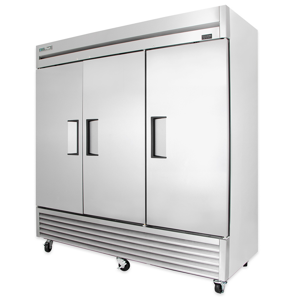 "True T-72F 78.13"" Three Section Reach-In Freezer, (3) Solid Doors, 115v"