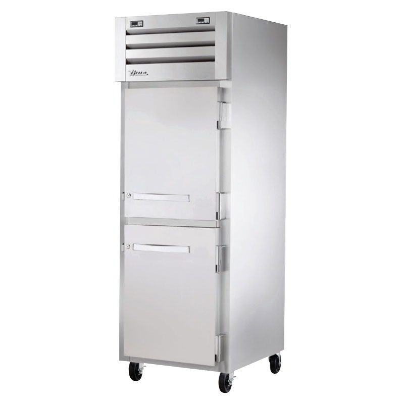 "True STA1DT-2HS 28"" One Section Commercial Refrigerator Freezer - Solid Doors, Top Compressor, 115v"