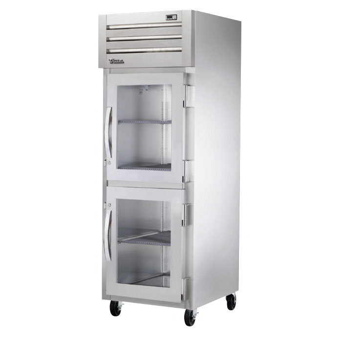 "True STA1H-2HG 27-1/2"" Reach-In Heated Cabinet - 1-Section, 2-Glass Half Doors 208-230v"