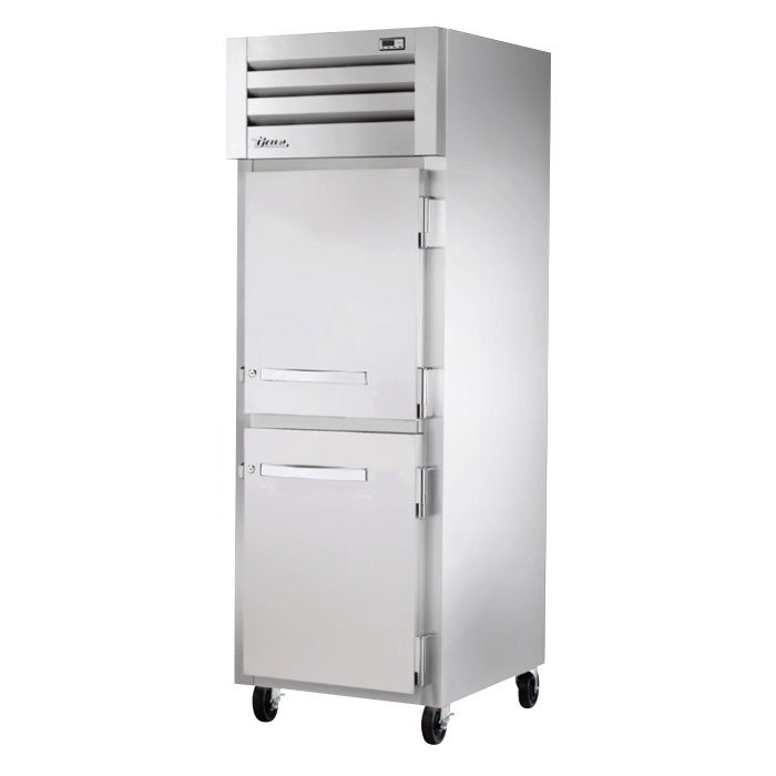 "True STA1H-2HS 27-1/2"" Reach-In Heated Cabinet - 1-Section, 2-Solid Half Doors 208-230v"