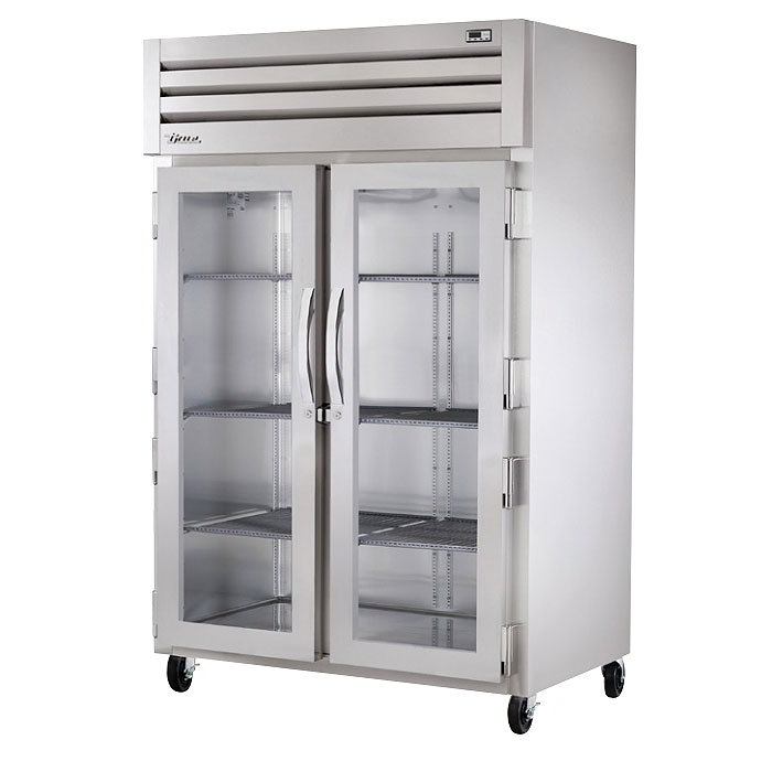 "True STA2H-2G 53"" Reach-In Heated Cabinet - 2-Section, 2-Solid Full Doors 115/208-230v"