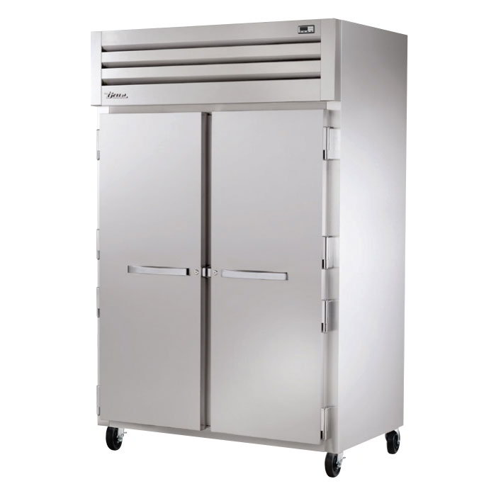 "True STA2H-2S 53"" Reach-In Heated Cabinet - 2-Section, 2-Solid Full Doors 115/208-230v"