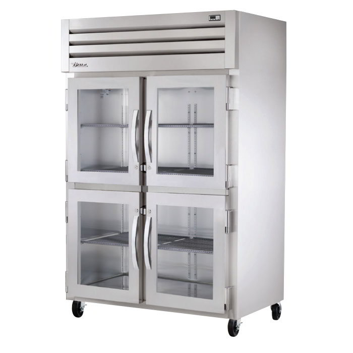 "True STA2H-4HG 53"" Reach-In Heated Cabinet - 2-Section, 4-Glass Half Doors 115/208-230v"
