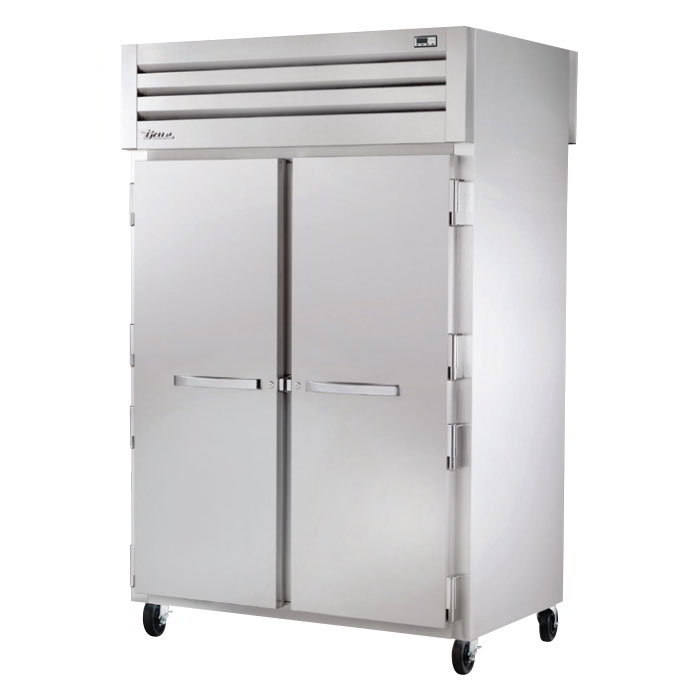 "True STA2HPT-2S-2S 53"" Pass-Thru Heated Cabinet - 2-Section, 4-Solid Full Doors 115/208-230v"