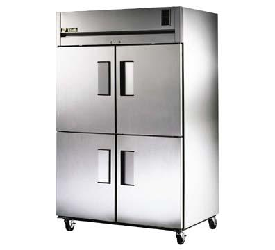 TRUE Refrigeration TA2R-4HS 2-Section Reach-In Refrigerator w/ Solid Half Doors 56-cu ft Restaurant Supply
