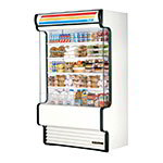 "True TAC-48GS-LD 48"" Vertical Open Air Cooler w/ (5) Levels, White, 208-230v/1ph"