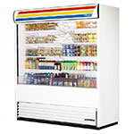 "True TAC-72-LD WHT 72"" Vertical Open Air Cooler w/ (5) Levels, White, 208-230v/1ph"