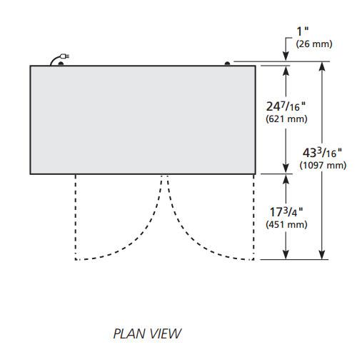 """True TBB-24-48 48"""" (2) Section Bar Refrigerator - Swinging Solid Doors, 115v"""