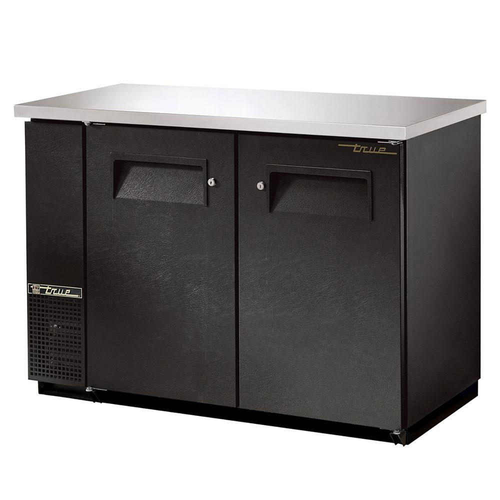 """True TBB-24-48FR 48"""" (2) Section Bar Refrigerator - Swinging Solid Doors, 115v"""