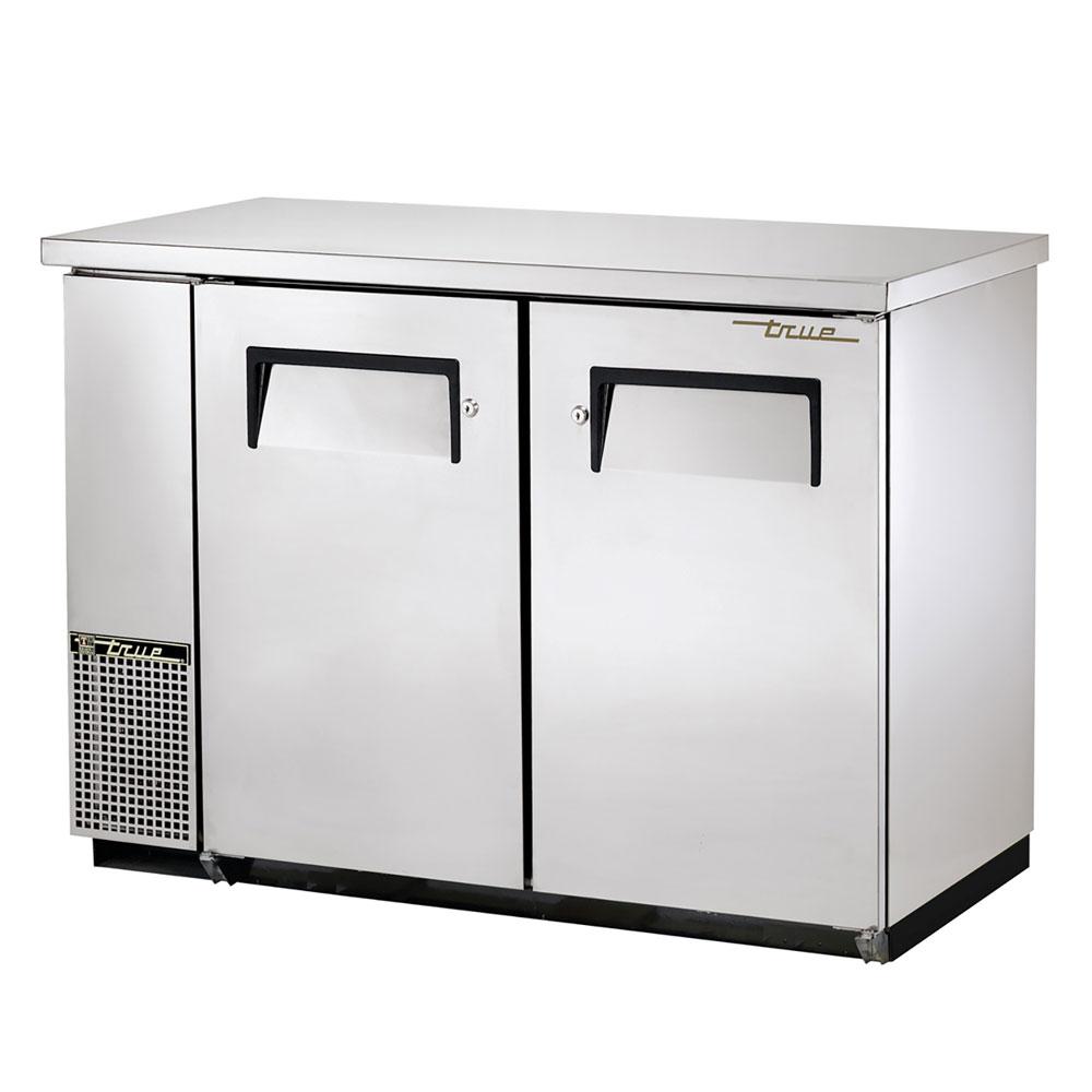 """True TBB-24-48FR-S 48"""" (2) Section Bar Refrigerator - Swinging Solid Doors, 115v"""
