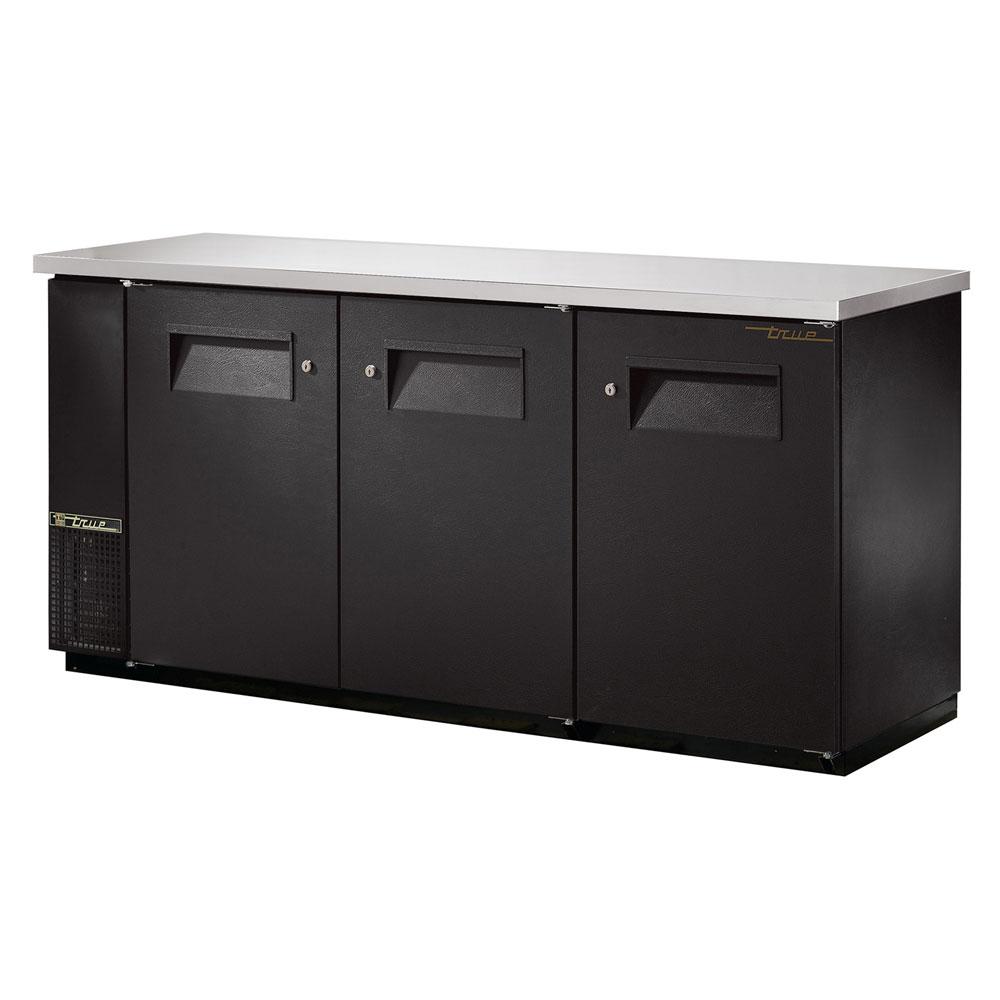 """True TBB-24-72FR 72"""" (3) Section Bar Refrigerator - Swinging Solid Doors, 115v"""