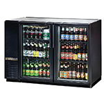 "True TBB-24GAL-48G-LD 48"" (2) Section Bar Refrigerator - Swinging Glass Doors, 115v"