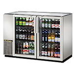 "True TBB-24GAL-48GS-LD 48"" (2) Section Bar Refrigerator - Swinging Glass Doors, 115v"