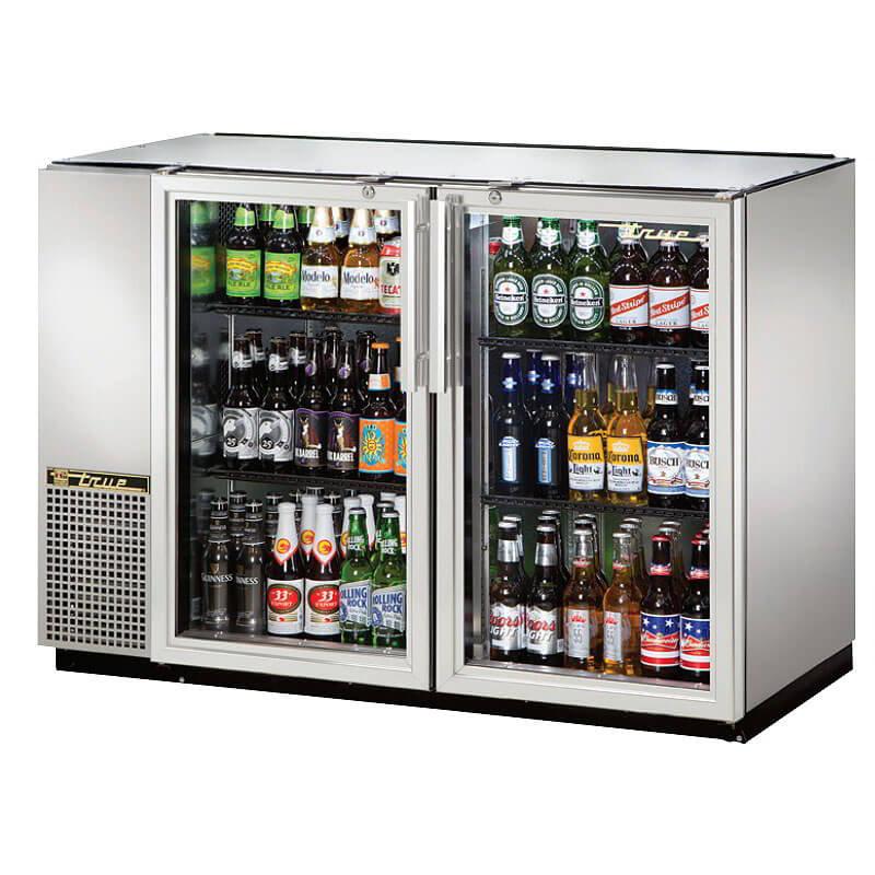 "True TBB-24GAL-48GS-LD 48"" (2) Section Bar Refrigerator - Swinging Glass Doors, 115v"