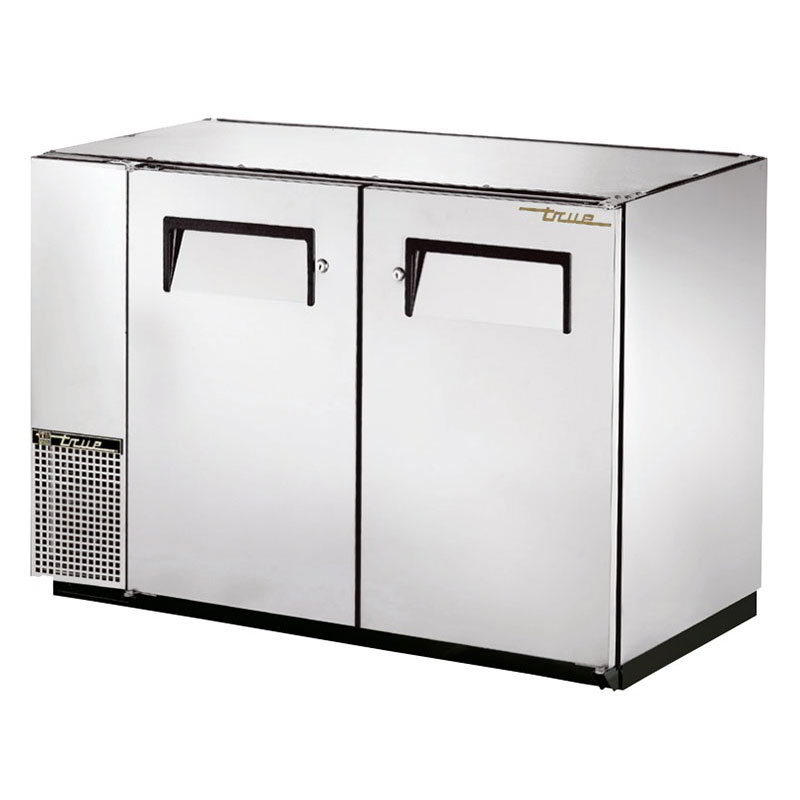 "True TBB-24GAL-48-S 48"" (2) Section Bar Refrigerator - Swinging Solid Doors, 115v"