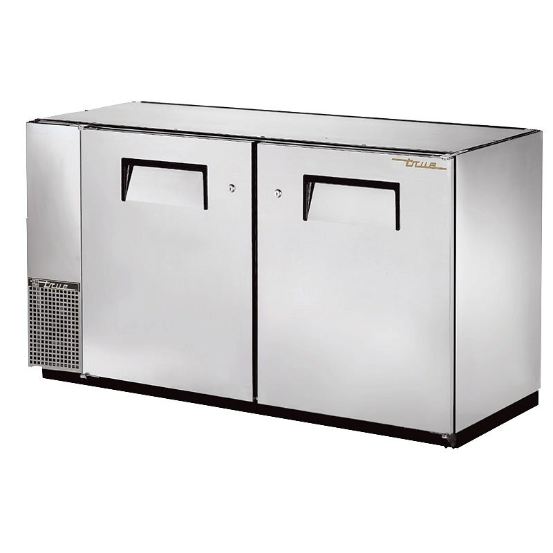 "True TBB-24GAL-60-S 60"" (2) Section Bar Refrigerator - Swinging Solid Doors, 115v"
