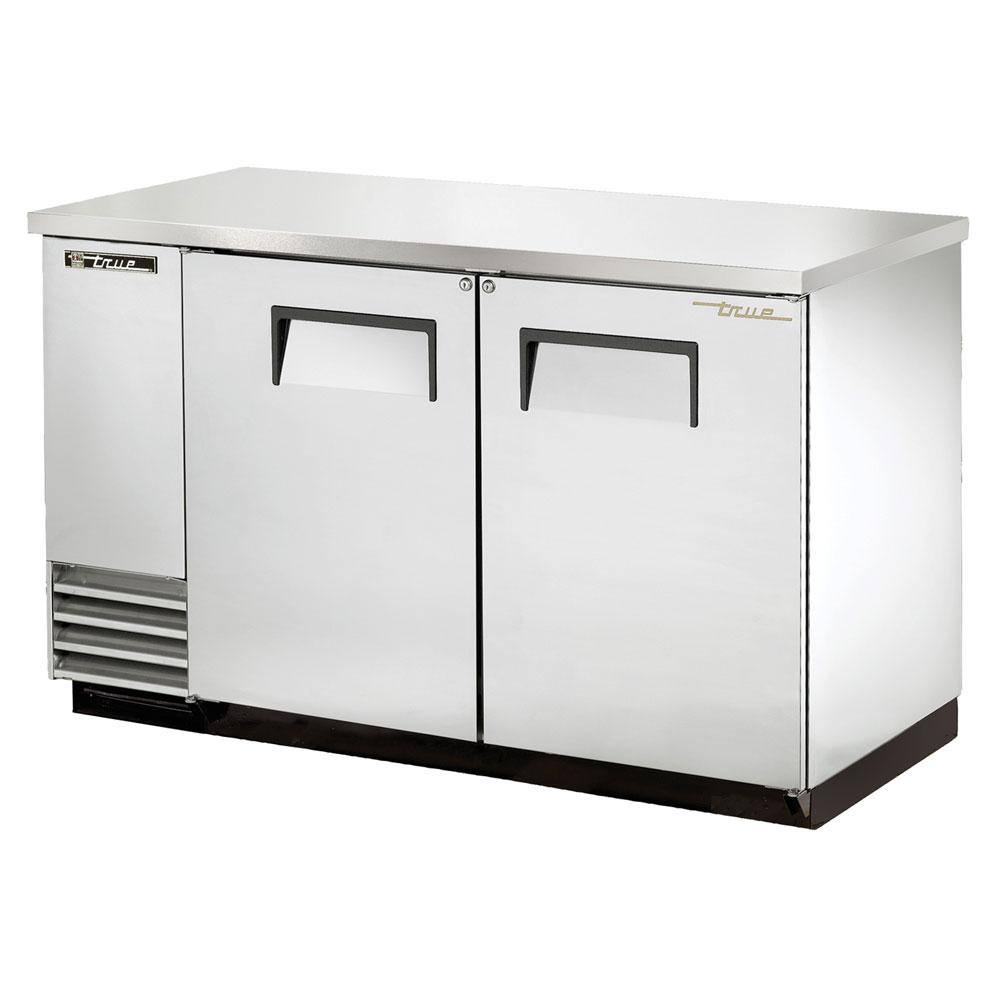 """True TBB-2-S 59"""" (2) Section Bar Refrigerator - Swinging Solid Doors, 115v"""