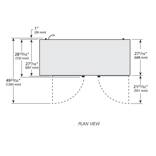 "True TBB-3G-S-LD 69"" (2) Section Bar Refrigerator - Swinging Glass Doors, 115v"