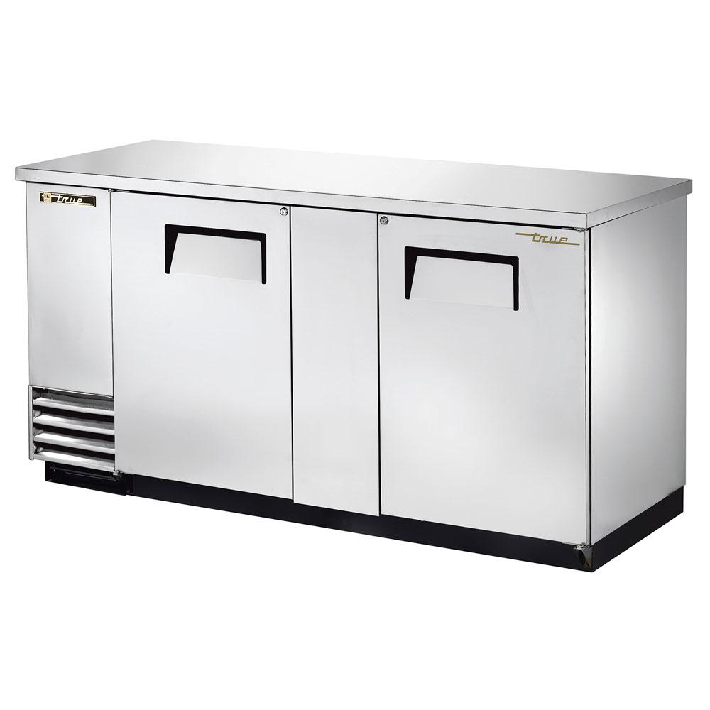 """True TBB-3-S 69"""" (2) Section Bar Refrigerator - Swinging Solid Doors, 115v"""