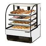 "True TCGD-36 WHT 36"" Full Service Bakery Case w/ Curved Glass - (4) Levels, White, 115v"