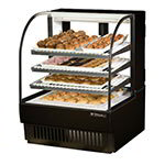 "True TCGD-36 BLK 36"" Full Service Bakery Case w/ Curved Glass - (4) Levels, 115v"