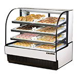 "True TCGD-50 50"" Full Service Bakery Case w/ Curved Glass - (4) Levels, White, 115v"