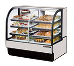 "True TCGDZ-50 50"" Full Service Bakery Case w/ Curved Glass - (4) Levels, 115v"