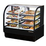 "True TCGDZ-50 BK 50"" Full Service Bakery Case w/ Curved Glass - (4) Levels, Black, 115v"