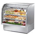 "True TCGG-48-S 48"" Full Service Deli Case w/ Curved Glass - (3) Levels, 115v"