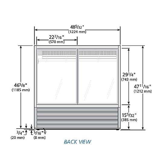 "True TCGG-48-S-LD 48"" Full Service Deli Case w/ Curved Glass - (3) Levels, 115v"