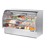 "True TCGG-72-S 72"" Full Service Deli Case w/ Curved Glass - (3) Levels, Stainless, 115v"