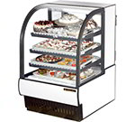 "True TCGR-31 WHT 31"" Full Service Bakery Case w/ Curved Glass - (4) Levels, White, 115v"