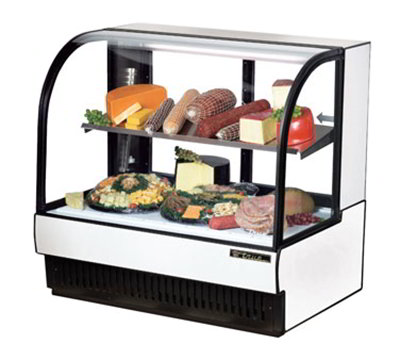 "True TCGR-50-CD 51"" Full Service Deli Case w/ Curved Glass - (2) Levels, 115v"