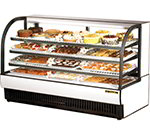"True TCGR-77 78"" Full Service Deli Case w/ Curved Glass - (4) Levels, 115v"