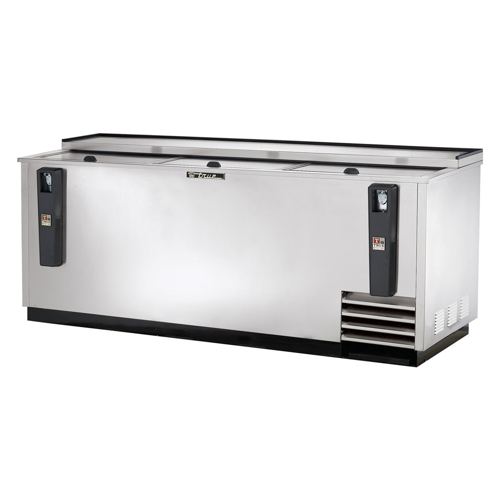 "True TD-80-30-S 80.5"" Forced Air Bottle Cooler - Holds (720) 12-oz Bottles, Lid Locks, 115v"
