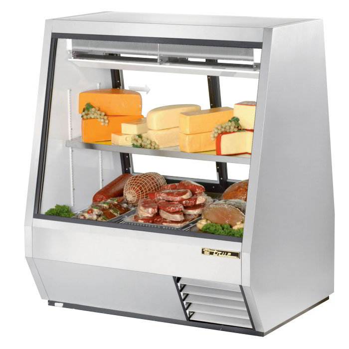 "True TDBD-48-2 48"" Full Service Deli Case w/ Straight Glass - (2) Levels, 115v"