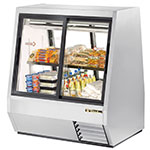 "True TDBD-48-4 48"" Self Service Deli Case w/ Straight Glass - (2) Levels, 115v"