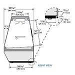"True TDBD-72-2 72"" Full Service Deli Case w/ Straight Glass - (2) Levels, 115v"