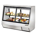 "True TDBD-72-4 72"" Self Service Deli Case w/ Straight Glass - (2) Levels, 115v"