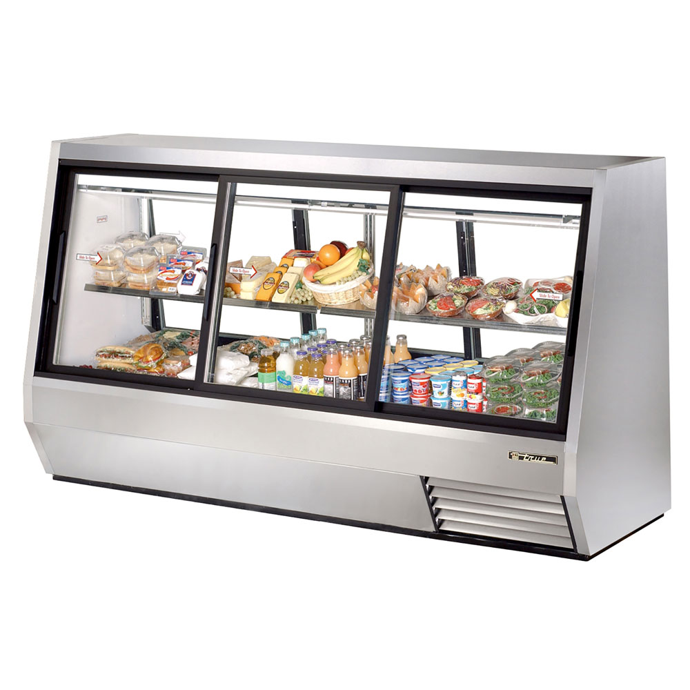 "True TDBD-96-6 96"" Self Service Deli Case w/ Straight Glass - (2) Levels, 115v"