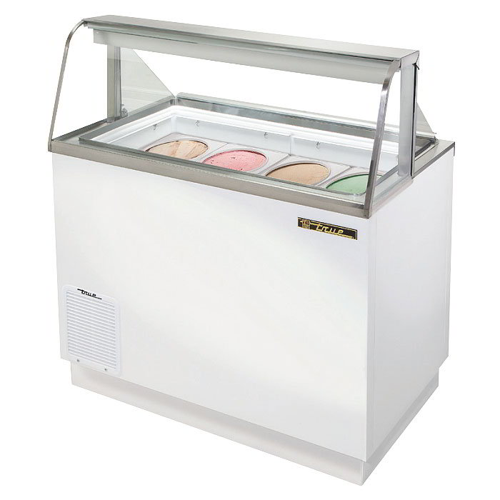 "True TDC-47-CG 46.75"" Stand Alone Ice Cream Freezer w/ 8-Tub Capacity & 5-Tub Storage, 115v"