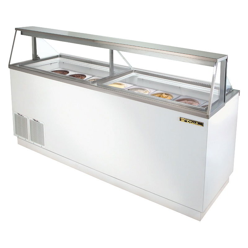 "True TDC-87 88.63"" Stand Alone Ice Cream Freezer w/ 16-Tub Capacity & 12-Storage, 115v"