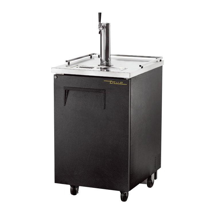 """True TDD-1 24"""" Draft Beer System w/ (1/2) Keg Capacity - (1) Column, Black, 115v"""