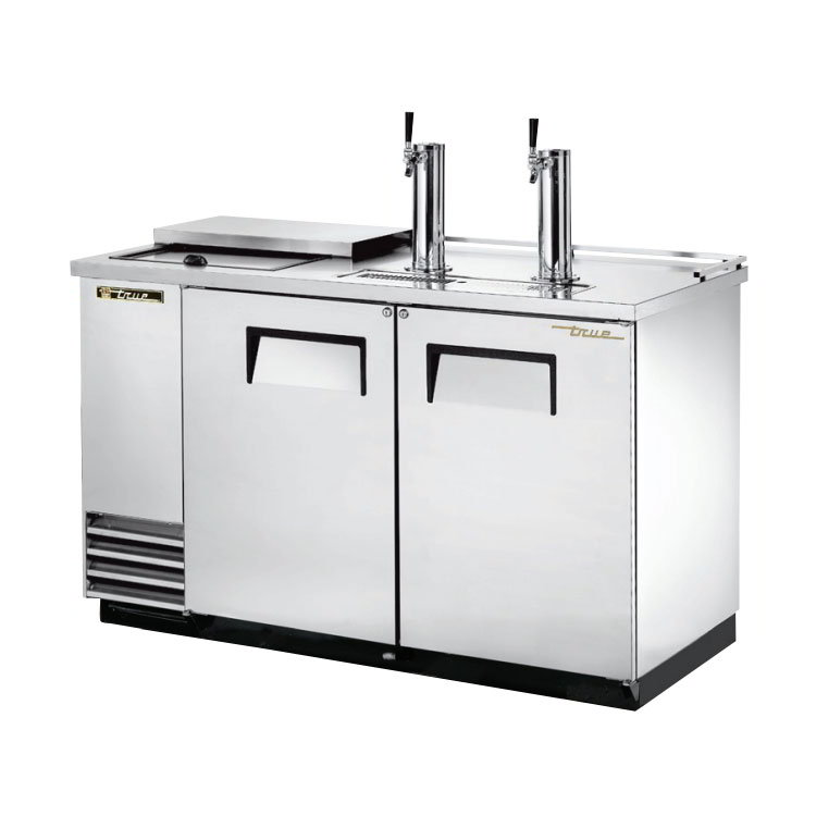 "True TDD-2CT-S 59"" Draft Beer System w/ (2) Keg Capacity - (2) Columns, Stainless, 115v"