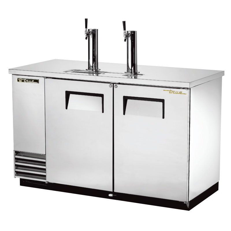"True TDD-2-S 59"" Draft Beer System w/ (2) Keg Capacity - (2) Columns, Stainless, 115v"
