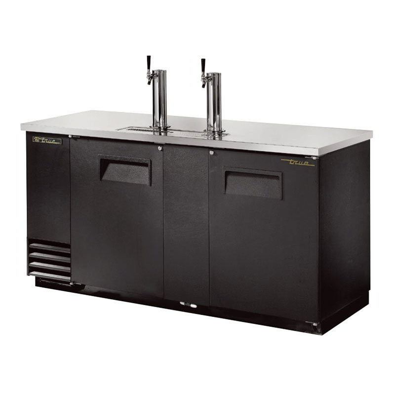 "True TDD-3 69"" Draft Beer System w/ (3) Keg Capacity - (2) Columns, Black, 115v"