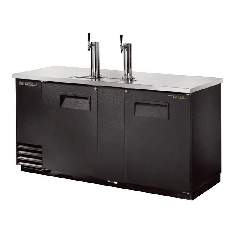"""True TDD-3 69.13"""" Draft Beer System w/ (3) Keg Capacity - (2) Columns, Black, 115v"""